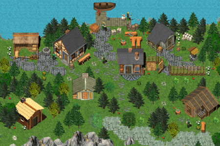 woodcutting-village